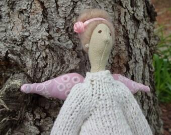 Unique fabric pregnant Tilda doll decorative doll cute doll girl present interior doll Tilda doll unique doll cotton doll