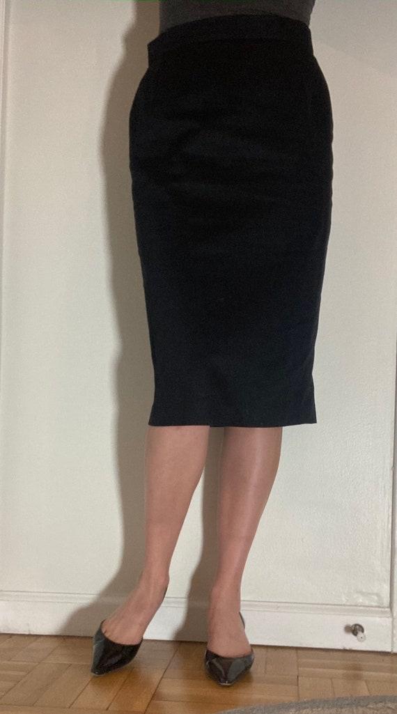 Louis Féraud cotton pencil skirt