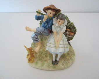 Gorham Norman Rockwell Four Seasons Figurine 1955 / Spring - Titled Sweet Song So Young / Bone China / Collectibles / Excellent Condition