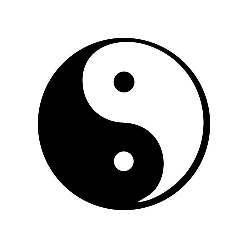Vinyl Decal for Walls Window decal Ying and Yang DoorLocker Decal Surface Decal Car Decal