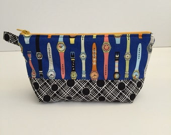 Medium Zip Pouch Cosmetic Bag