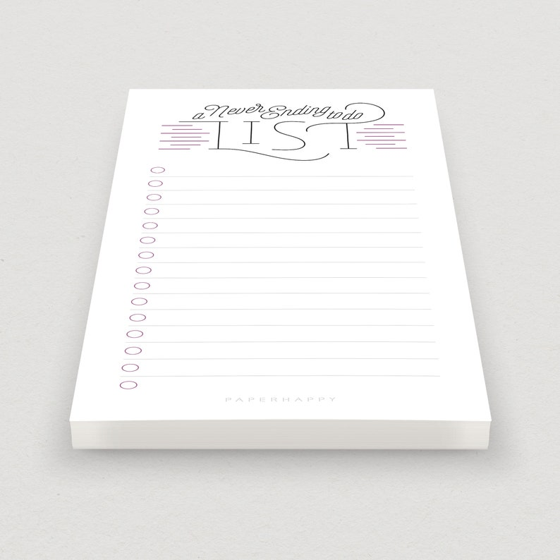 Notepad A Never Ending To Do List