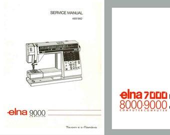 Vintage bernina 900 nova electronic sewing machine service etsy elna 9000 diva service manual and parts schematics book pdf download fandeluxe Gallery