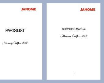 janome mc10000 service manual parts list memory craft etsy rh etsy com Janome 350E USB MC9000 Janome Memory Cards