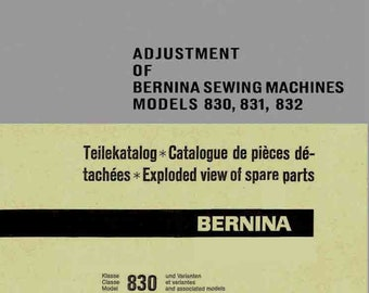 Bernina etsy vintage bernina record 830 831 832 sewing machine service manual spare parts book fandeluxe Gallery