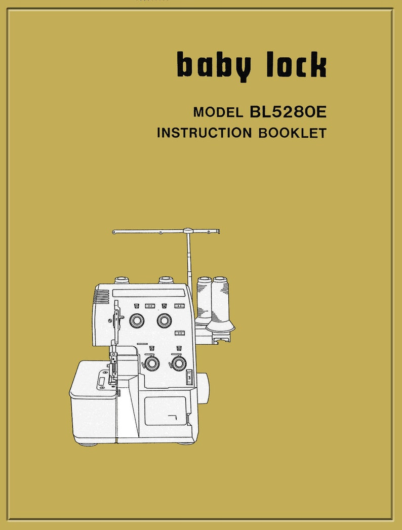 Vtg  Baby Lock BL-5280E BL-5380E Instruction manual /Operating Guide &  Service book in PDF Instant Download