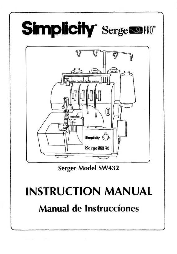 simplicity sw432 serger serge pro instruction operating etsy rh etsy com simplicity sewing machine instruction manual simplicity vacuum instruction manual