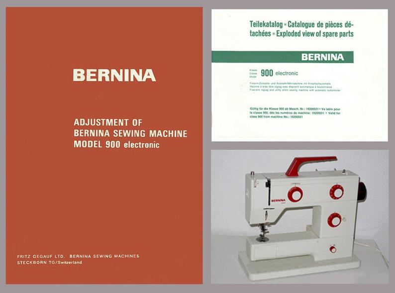 Vintage Bernina 900 NOVA Electronic Sewing Machine Service Manual & Spare  Parts Book * PDF Download