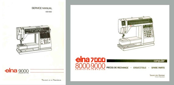 Elna 40 DIVA Service Manual And Parts Schematics Book Etsy Delectable Elna 9000 Sewing Machine