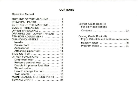 Brother 870 Compal Galaxie Instructions And Service Manual Etsy