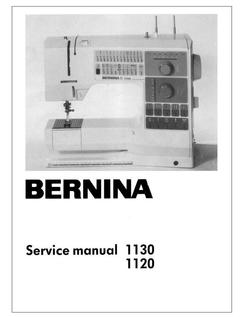 Bernina 1120, 1130 Sewing Machine Service Manual & Spare Parts Book *  Digital Download