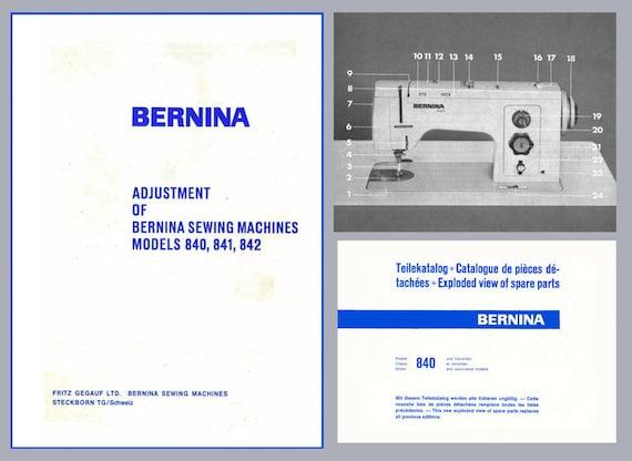 Vintage bernina favorit 840 841 842 sewing machine service etsy image 0 fandeluxe Gallery