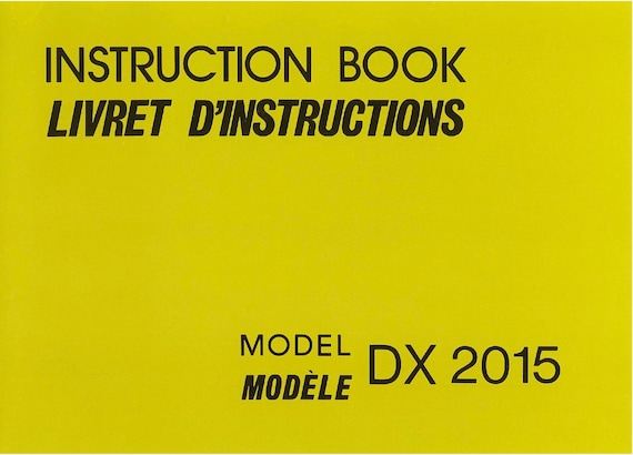 Dx2015 Janome New Home Instruction Service Repair Manual Etsy