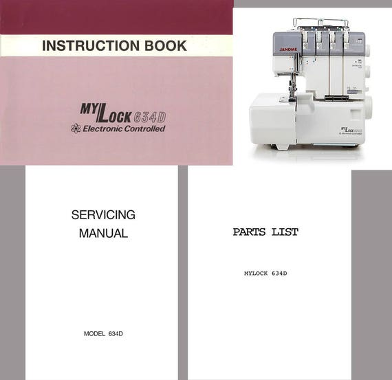 mylock 634d instruction service repair manual partslist etsy rh etsy com Janome Memory Craft 9000 Parts Memory Craft 9000
