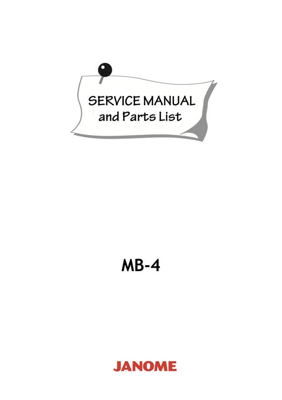 janome mb 4 mb4 service repair manual parts list four etsy rh etsy com Janome 9000 Embroidery Hoops Janome Memory Craft 9000 Parts