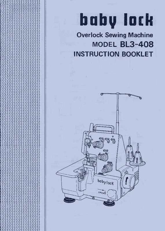 vtg baby lock bl3 408 serger by juki instruction manual etsy rh etsy com juki serger manual for mo 104n juki mo-50e serger manual