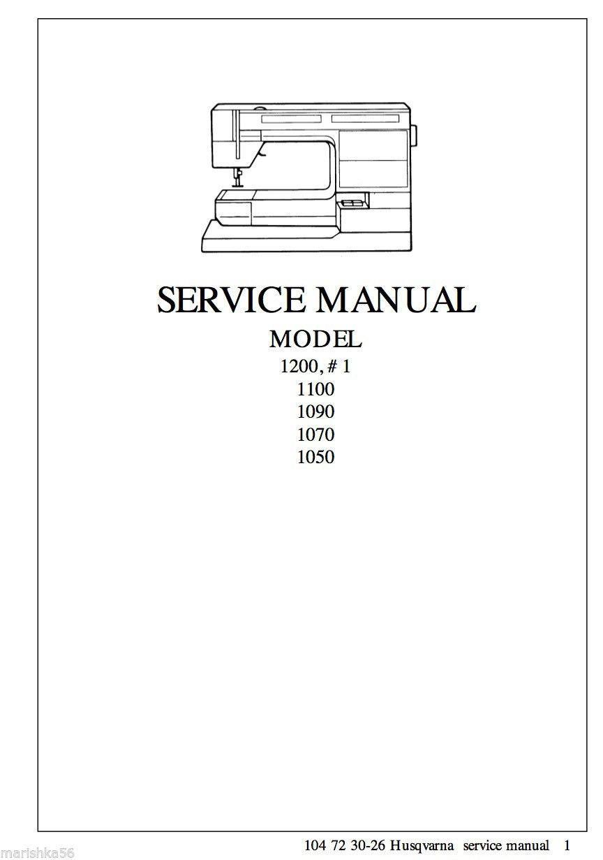 Husqvarna Viking #1, 1200 Service Repair Manual & Parts List PDF Download