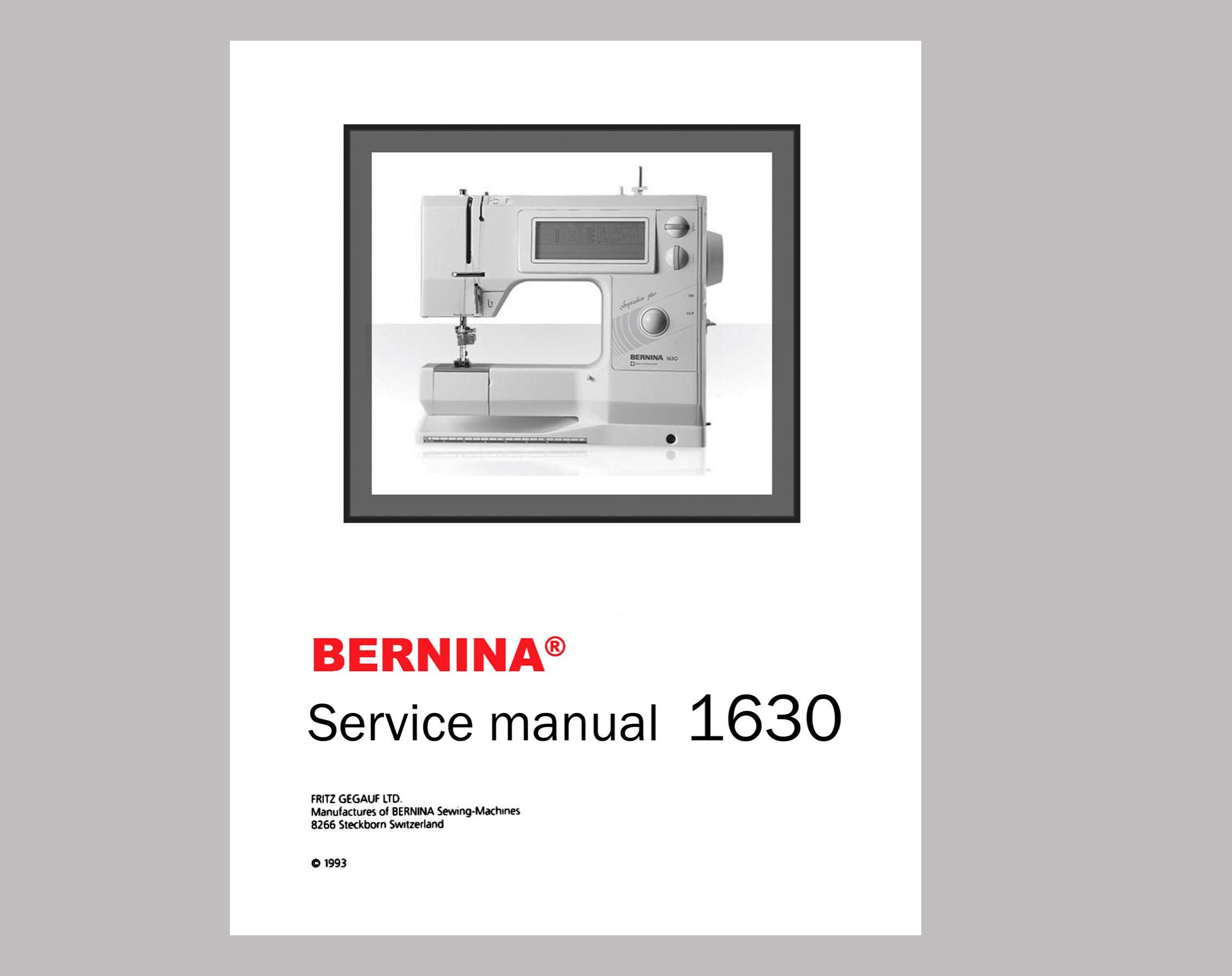 Vintage Bernina 1630 Inspiration Plus Sewing Machine Service Etsy 830 Threading Diagram