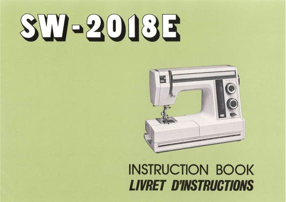 JANOME SW40E Sewing Machine Instruction Book Operating Etsy Classy How To Use A Sewing Machine Book