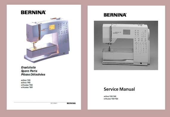 bernina activa 130 140 virtuosa 150 160 sewing machine etsy rh etsy com User Guide Template User Guide Template