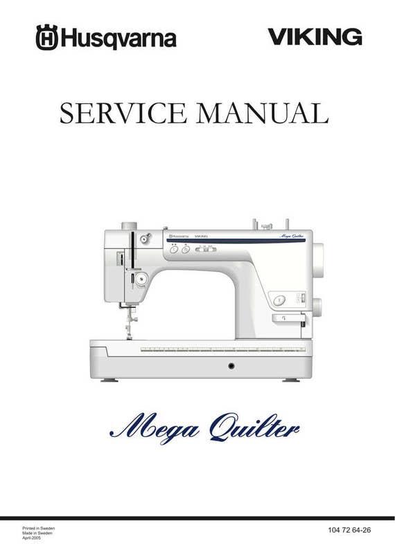 Husqvarna Viking Mega QUILTER Service Repair Manual Parts Etsy Best Viking Mechanical Sewing Machine