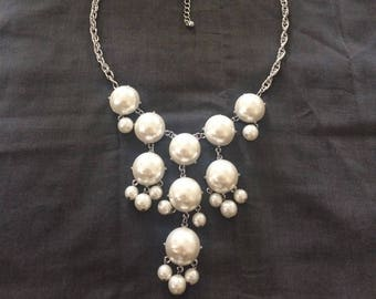 Pearl chunky chandelier necklace