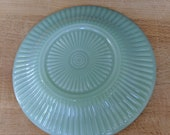 Vintage Fire King Jane Ray Unmarked Rayed Bottom Saucer