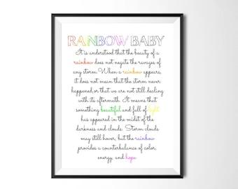 Rainbow Baby Quote Etsy
