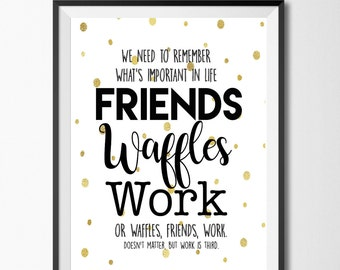 Work Friends Quotes Friends waffles work | Etsy Work Friends Quotes