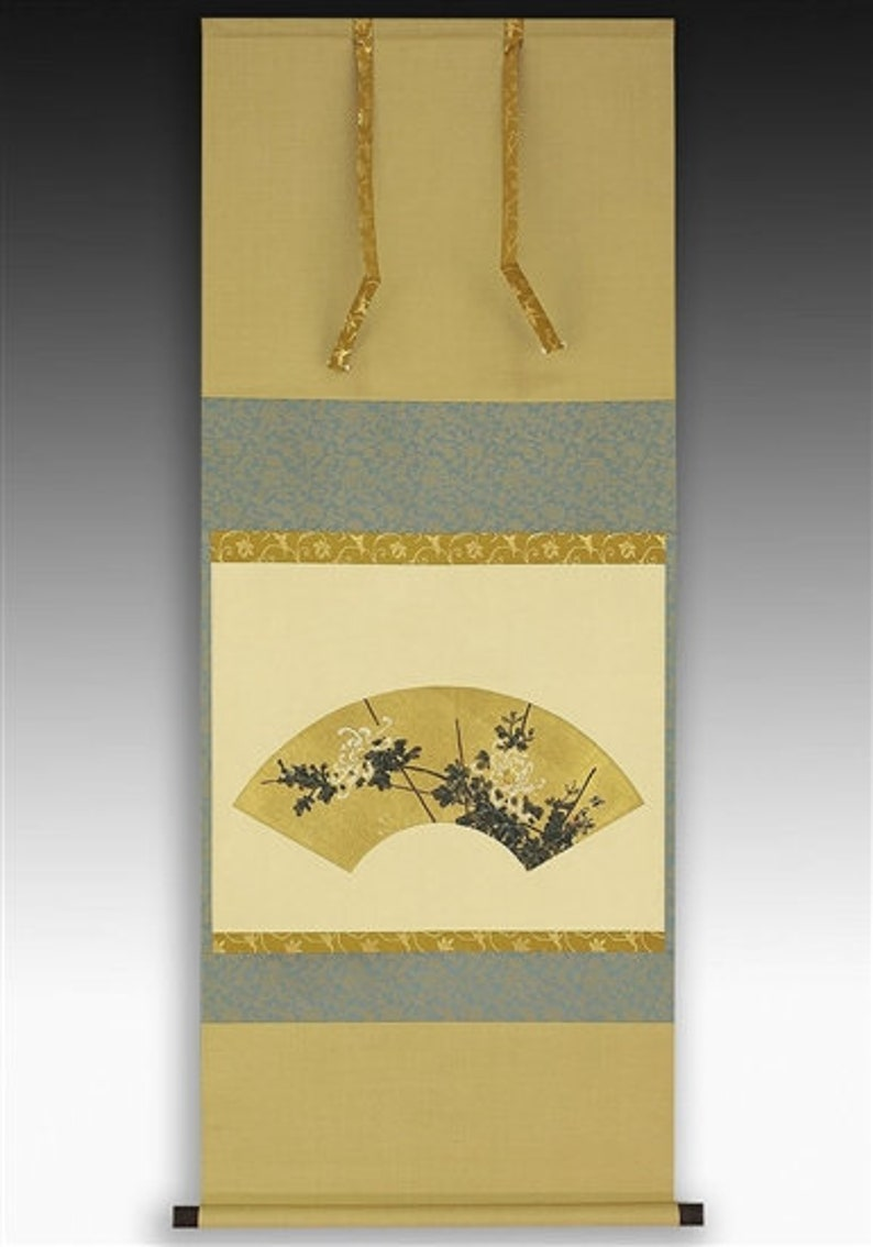 Japanese Scroll Painting for the Tea Ceremony Fan with image 0