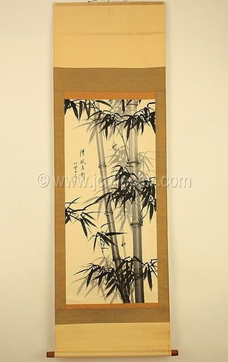 Chinese Scroll Painting Bamboo  JJ4A42 image 0