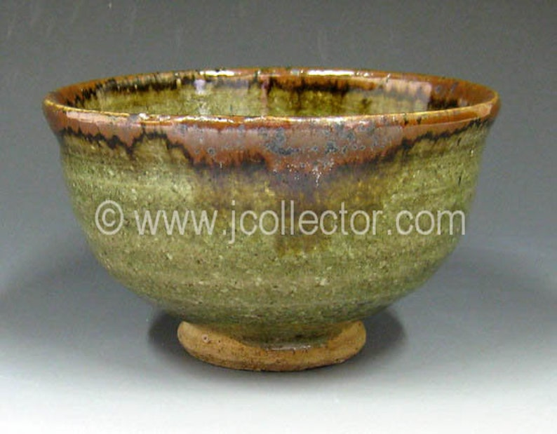 Japanese Karatsu Ceramic Chawan Tea Bowl  JJ9A231 image 0