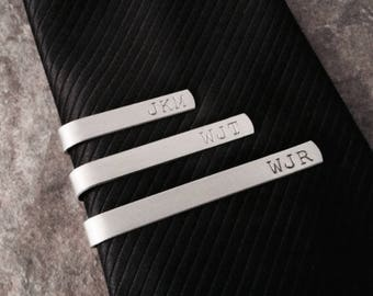 Engraved Personalized Tie Clip Bridal Party Gift Tie Clip