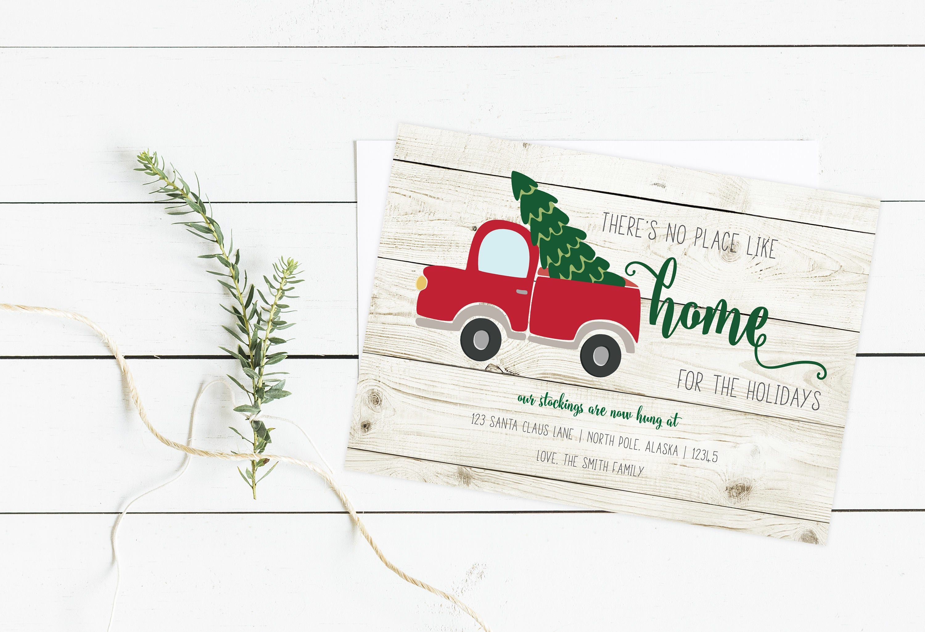 Home for the Holidays Moving Announcement New Home Card new | Etsy