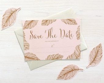 Tickled Pink 'Write Your Own' Save The Date, DIY Wedding Stationery