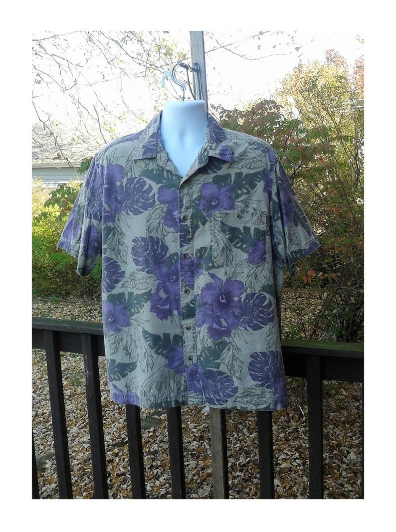 a0db2c63 Vintage Hawaiian Shirt Men's Hawaiian Shirt Mens Beach | Etsy