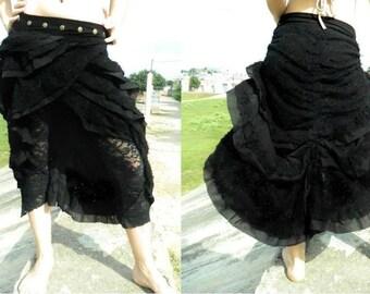SKIRT long adjustable black