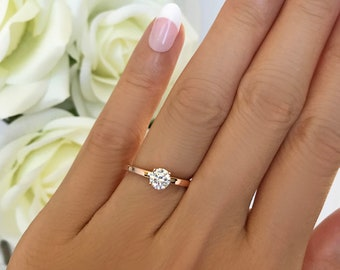 More sizes 1 2 ct Promise Ring Engagement Ring Round  2dc257859
