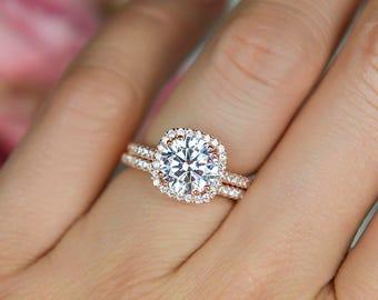 Square Wedding Ring Etsy