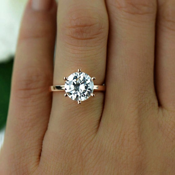 3 Ct 6 Prong Engagement Ring