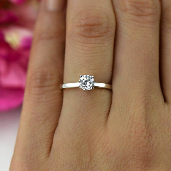 1 2 ct Promise Ring Engagement Ring Classic Solitaire Ring  071de5f6f030