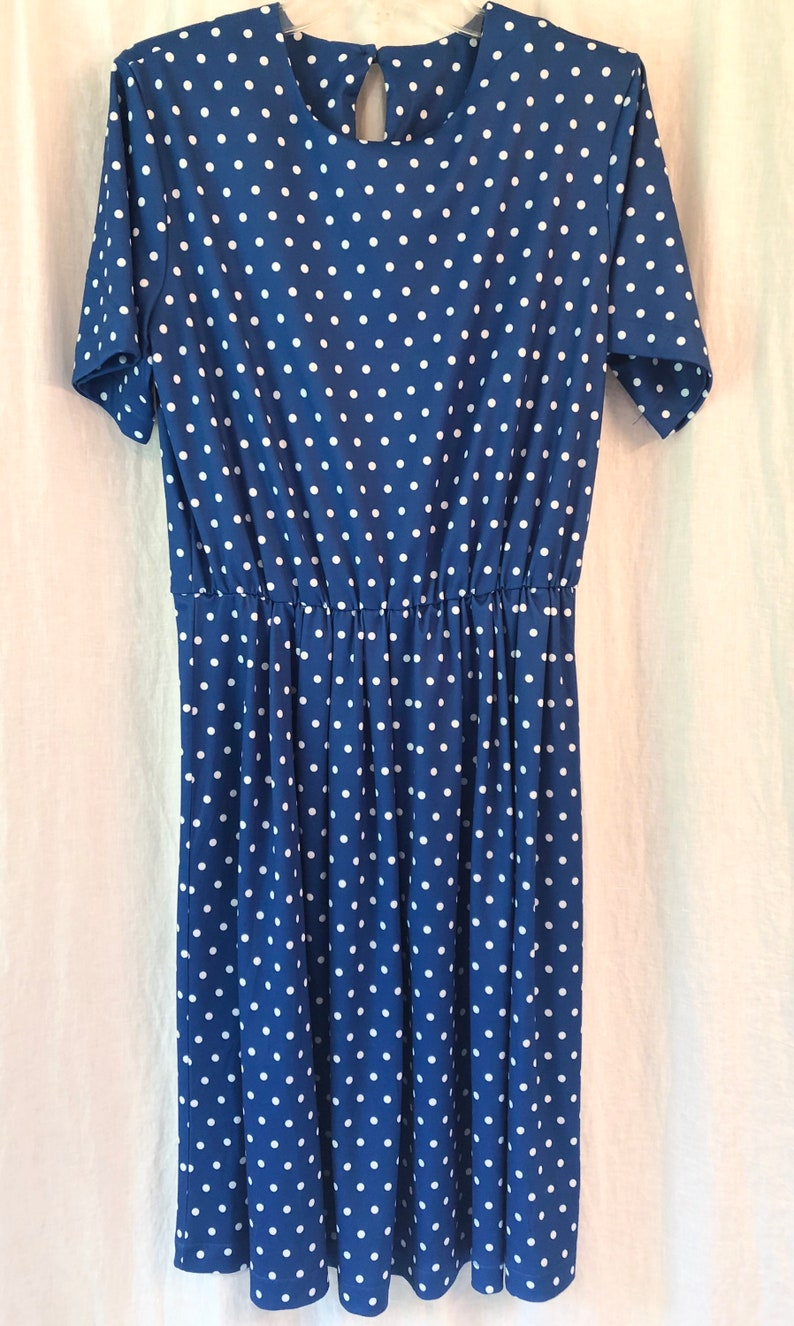 Bright blue with Polk a dots Vintage Dress