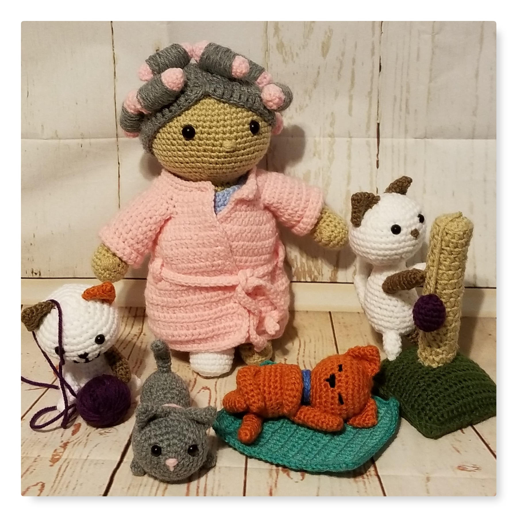 Crazy Cat Lady Crochet Pattern Doll And Outfit Pattern Etsy