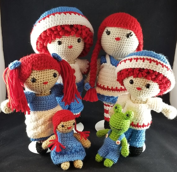 Rag Doll Family Penny Pete Jack Julie Crochet Patterns Etsy
