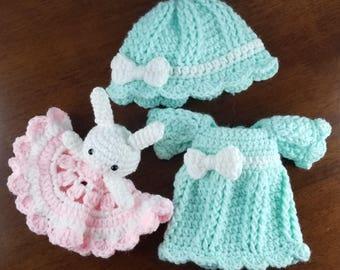JJs Girls pajamas crochet pattern