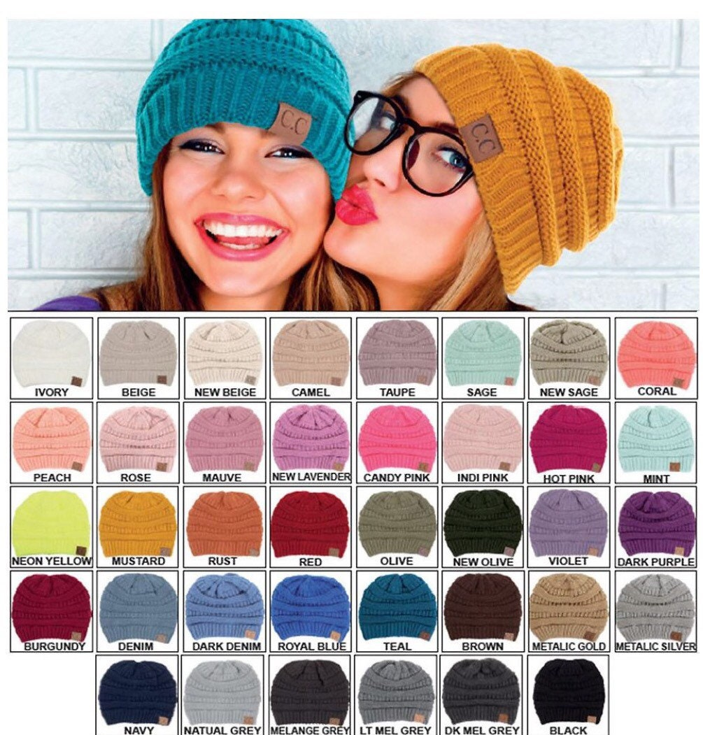CC Beanies Monogrammed Beanies Personalized Beanies  600eaa8d999