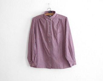 1970s NOS Cotton Flannel Blouse
