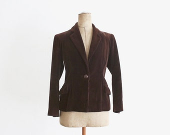 1940s Brown Corduroy Jacket