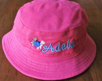 02fe220b867fe Personalized custom baby toddler bucket hat - available in pink