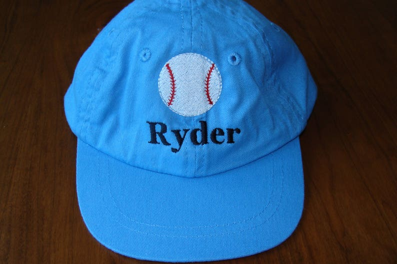 7ccdaa6496478 Personalized toddler or child baseball cap hat 2 sizes